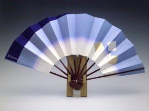 舞扇子(塗骨)褄紫金色紙