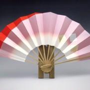 舞扇子(白竹)褄朱金色紙