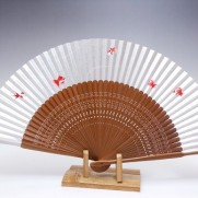 夏扇子(女性用)本銀地金魚