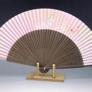 夏扇子(女性用)蝶・ピンク地1