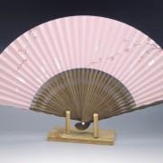 夏扇子(女性用)桜に兎・ピンク地