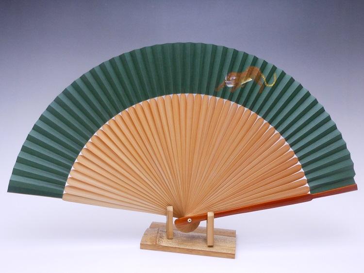 夏扇子(男性用)片面絹張り・手描き・虎
