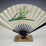 刺繍扇子(婦人用)水仙
