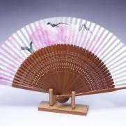 夏扇子(女性用)本銀地・枝垂桜(しだれざくら)手描き