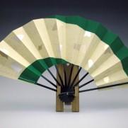 舞扇子(塗骨)両褄緑箔色紙