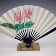 刺繍扇子(婦人用)カタクリ