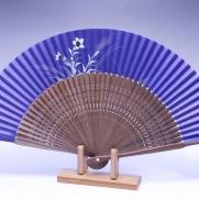 夏扇子(女性用)桔梗・濃紫地