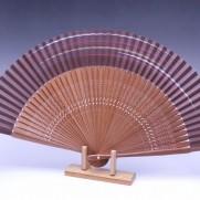 夏扇子(男性用)茶色絹張り・カスミ