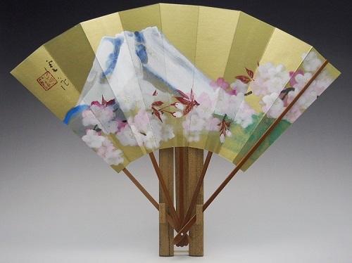 飾り扇子(カワホリ)富士山と桜