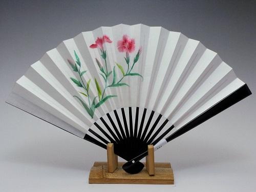 刺繍扇子(婦人用)撫子